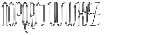 Contouration Outline Font UPPERCASE