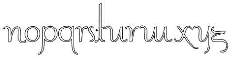Contouration Outline Font LOWERCASE