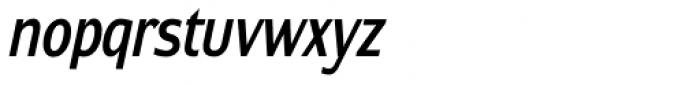Contra Condensed Italic Font LOWERCASE