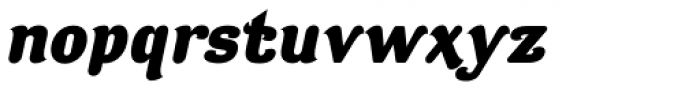 Contra Flare ExtraBold Italic Font LOWERCASE