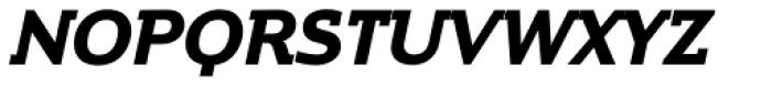 Contra Slab Bold Italic Font UPPERCASE