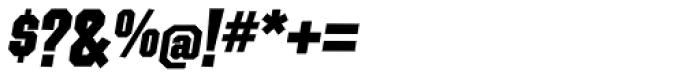 Contraption Black Oblique Font OTHER CHARS