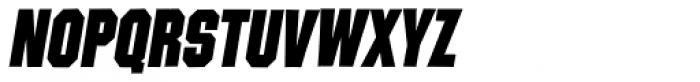 Contraption Black Oblique Font UPPERCASE