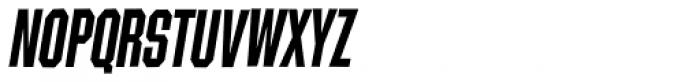 Contraption Narrow Bold Oblique Font UPPERCASE