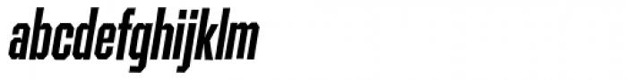 Contraption Narrow Bold Oblique Font LOWERCASE