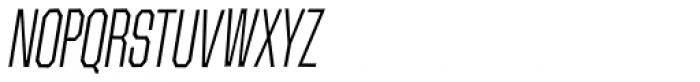 Contraption Narrow Light Oblique Font UPPERCASE