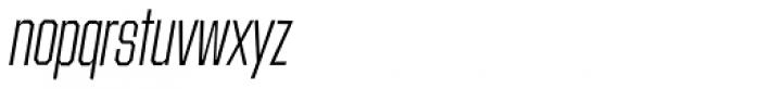 Contraption Narrow Light Oblique Font LOWERCASE