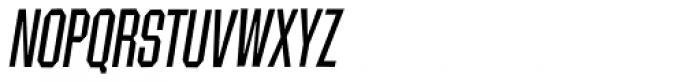 Contraption Narrow Oblique Font UPPERCASE