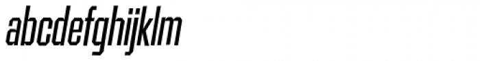 Contraption Narrow Oblique Font LOWERCASE
