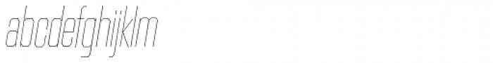 Contraption Narrow Thin Oblique Font LOWERCASE
