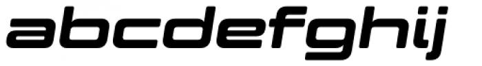 Controller Expanded Five Oblique Font LOWERCASE