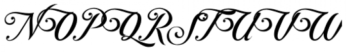 Controwell Script Font UPPERCASE