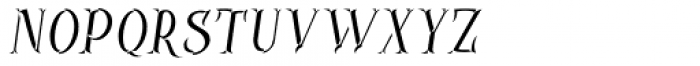 Controwell Side Italic Font LOWERCASE