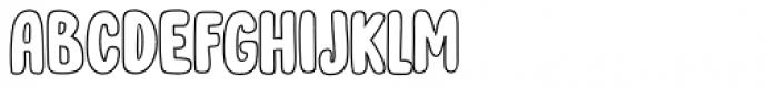 Cool Daddy Outline Regular Font UPPERCASE