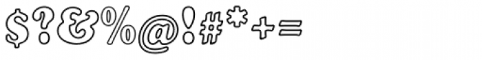 Cooper Black EF Bold Condensed Outline Font OTHER CHARS