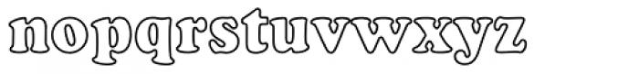 Cooper Black EF Bold Condensed Outline Font LOWERCASE