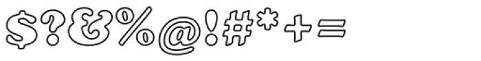 Cooper Black EF Bold Outline Font OTHER CHARS