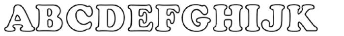 Cooper Black EF Bold Outline Font UPPERCASE