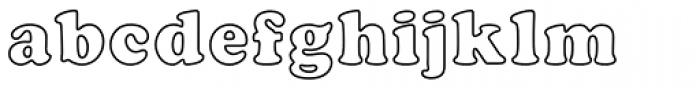 Cooper Black EF Bold Outline Font LOWERCASE