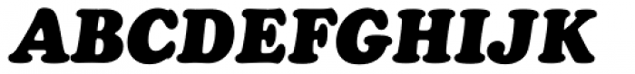 Cooper Black Italic Headline Font UPPERCASE