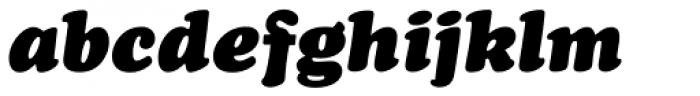 Cooper Black Italic Font LOWERCASE