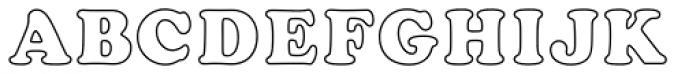 Cooper Black MN Outline Font UPPERCASE