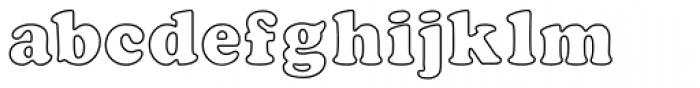 Cooper Black MN Outline Font LOWERCASE