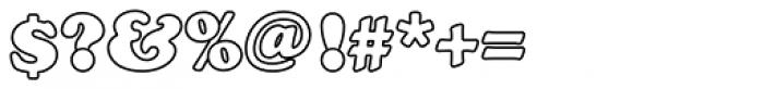 Cooper Black Outline P Font OTHER CHARS