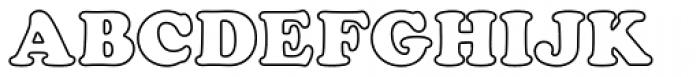 Cooper Black Outline P Font UPPERCASE