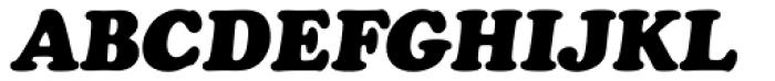 Cooper Black Pro Italic Font UPPERCASE