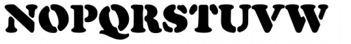 Cooper Black Pro Stencil Font UPPERCASE