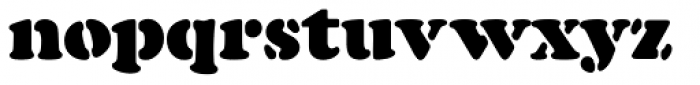 Cooper Black Pro Stencil Font LOWERCASE