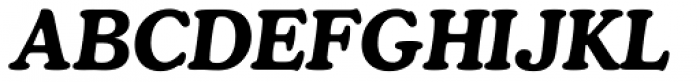 Cooper Bold Italic Font UPPERCASE