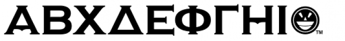 Copper Penny Greek Font UPPERCASE