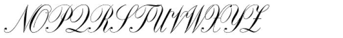 Copperplate Script Font UPPERCASE
