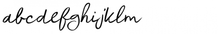 Coquillage Italic Font LOWERCASE