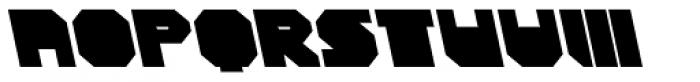 CorTen Closed Fat A Italic Font UPPERCASE