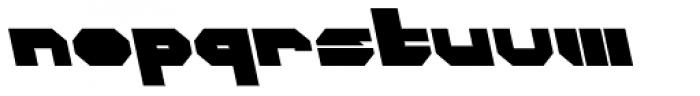 CorTen Closed Fat A Italic Font LOWERCASE