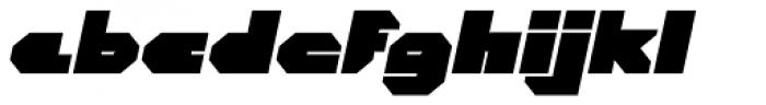 CorTen Closed Fat Italic Font LOWERCASE