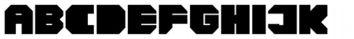 CorTen Closed Fat Font UPPERCASE