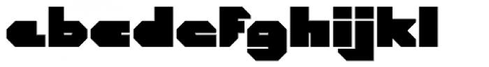 CorTen Closed Fat Font LOWERCASE