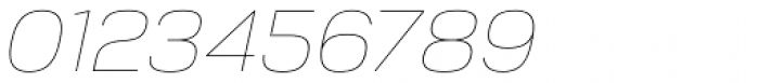 Corbert Thin Italic Font OTHER CHARS