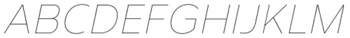 Corbert Thin Italic Font UPPERCASE