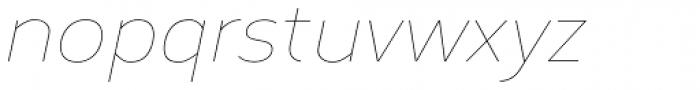 Corbert Thin Italic Font LOWERCASE