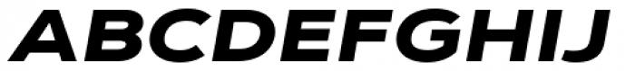 Corbert Wide Black Wide Italic Font UPPERCASE