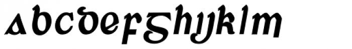Corcaigh Bold Oblique Font UPPERCASE