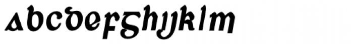 Corcaigh Bold Oblique Font LOWERCASE