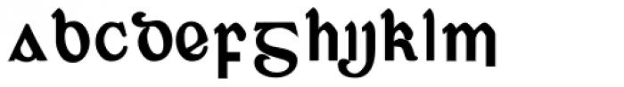 Corcaigh Bold Font UPPERCASE