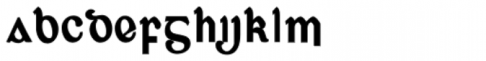 Corcaigh Bold Font LOWERCASE