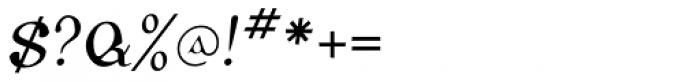 Corcaigh Oblique Font OTHER CHARS